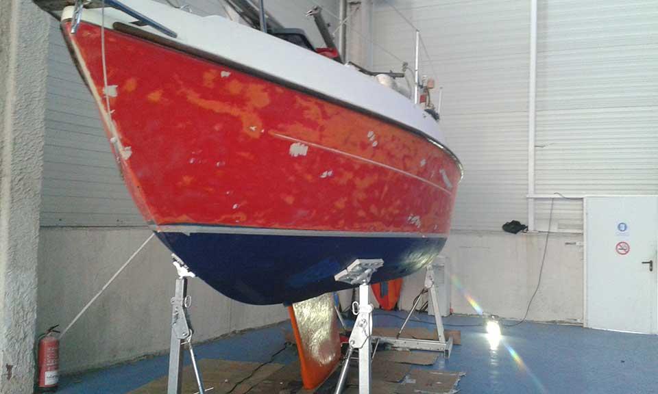 servicios de pintura de barcos