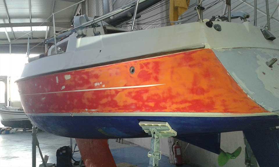 Pintado de barcos en Gipuzkoa