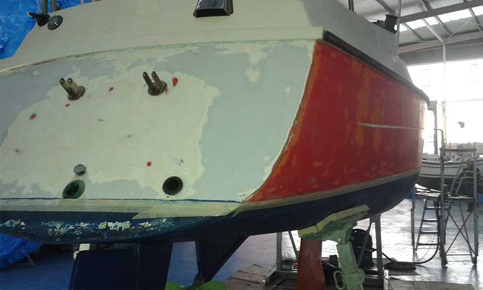 Pintado de embarcaciones en Gipuzkoa