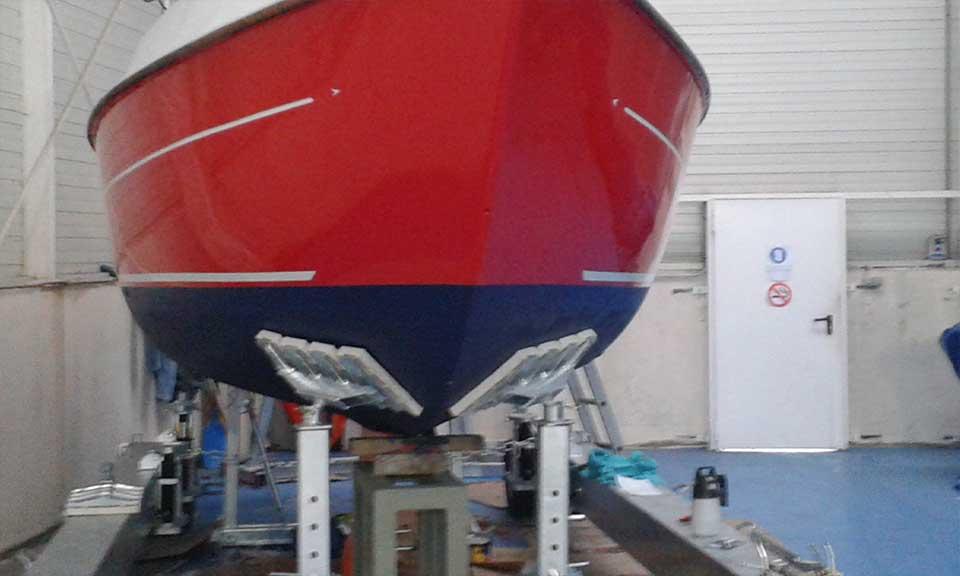 pintado embarcaciones barcos
