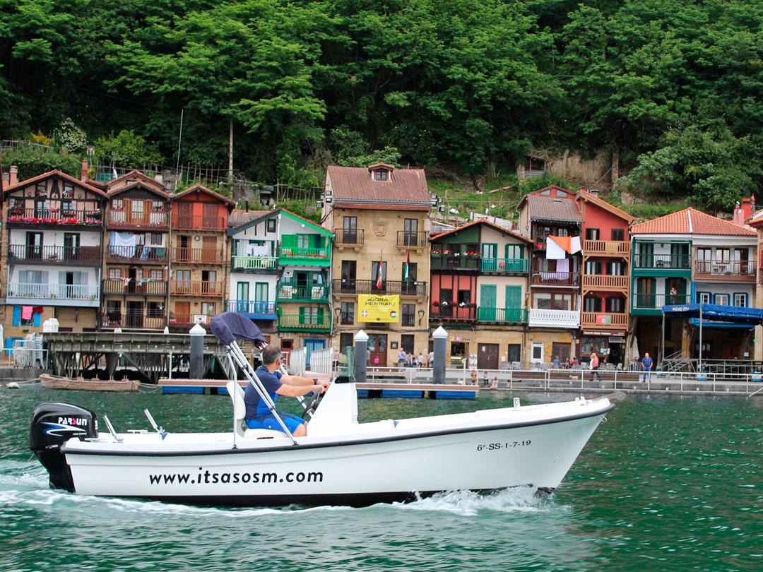 Alquiler de embarcación, Paseos a Jaizkibel