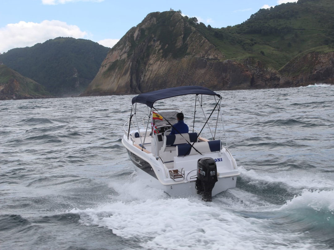 Alquiler de embarcación, Pasai Donibane
