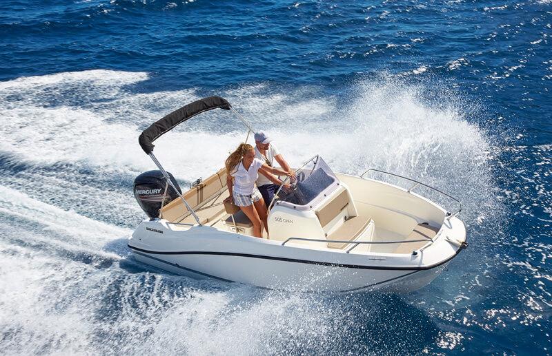 Embarcación Quicksilver 505 open de venta en Itsaso